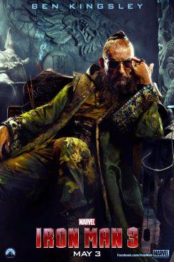 Sir Ben Kingsley como el Mandarín.