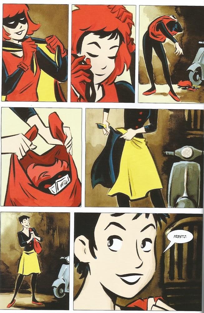 Bandette Batgirl Homage
