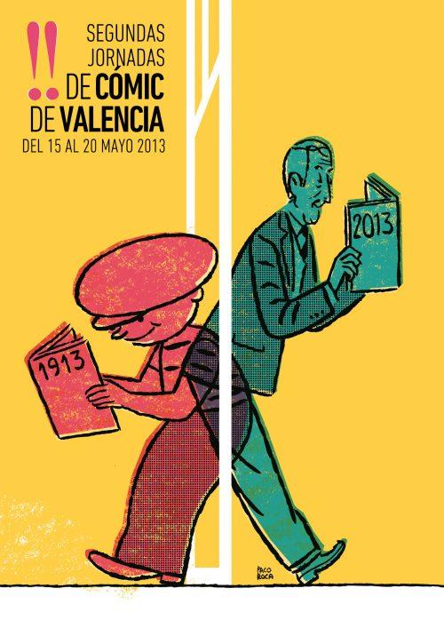 Cartel II Jornadas Cómic Valencia, por Paco Roca