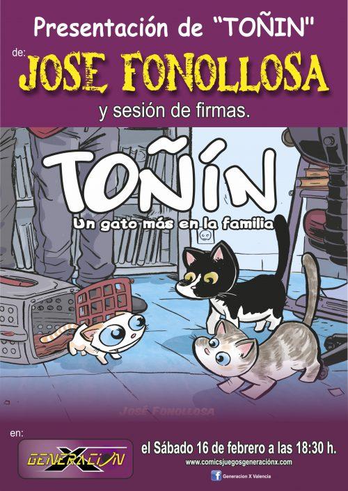 Toñin un gato más en la familia (José Fonollosa)