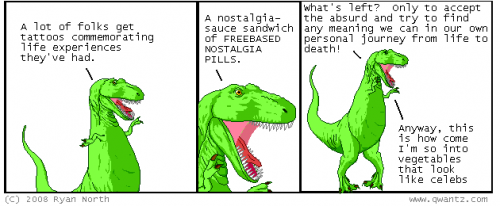 Uno de los Dinosaur Cómics de Ryan North