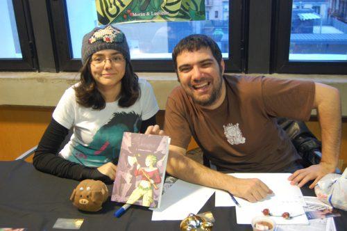 Laurielle y Morán se hartaron de firmar ejemplares de su obra El Vosque
