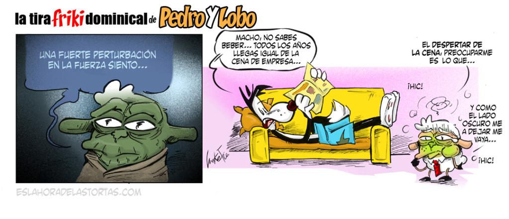 La tira Friki dominical de Pedro y Lobo: El despertar de las cenas