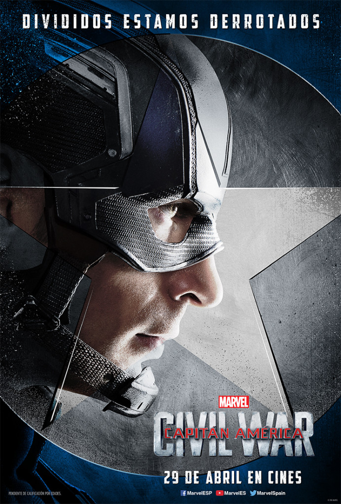 Nuevos posters de personajes de Capitán América: Civil War