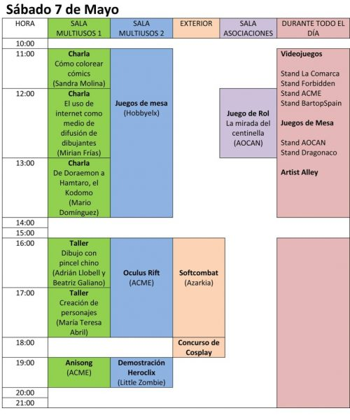 Expomanga de Novelda Sábado 7 de Mayo