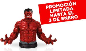 Después de recibir la transfusión de sangre de Hulk, el General Ross se transforma en un nuevo Hulk ... rojo! Inteligente, estratega y terriblemente destructiva, Hulk Rojo se detuvo finalmente por la acción conjunta de Thor y Hulk...