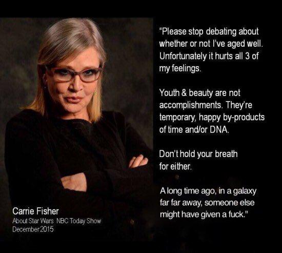 Fallece Carrie Fisher a los 60 años de edad