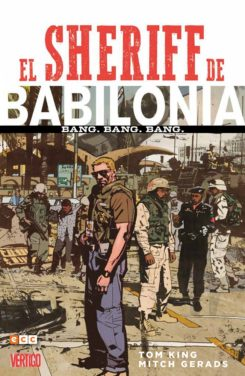 Portada del primer tomo de El sheriff de Babilonia, por Tom King y Micht Gerads.