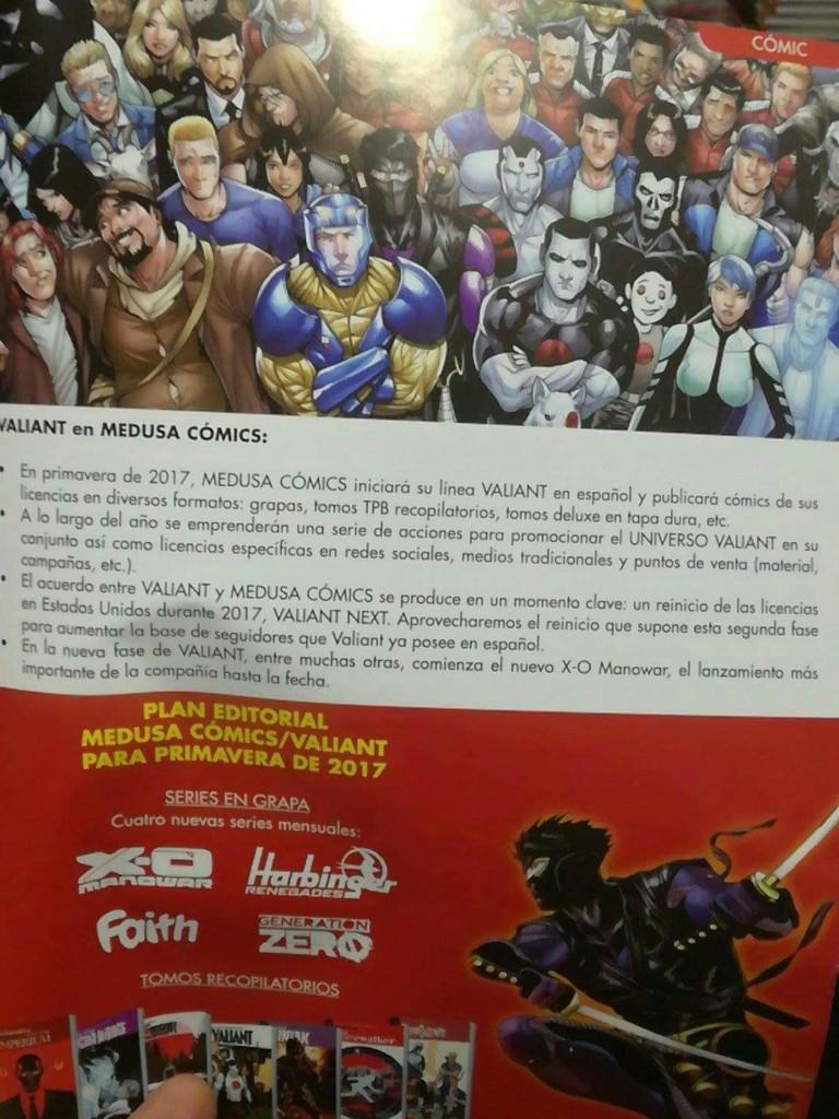 Medusa Comics editará Valiant en España a partir de 2017