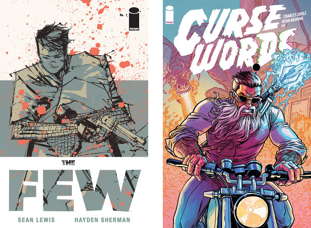 Portadas de The Few y Curse Words