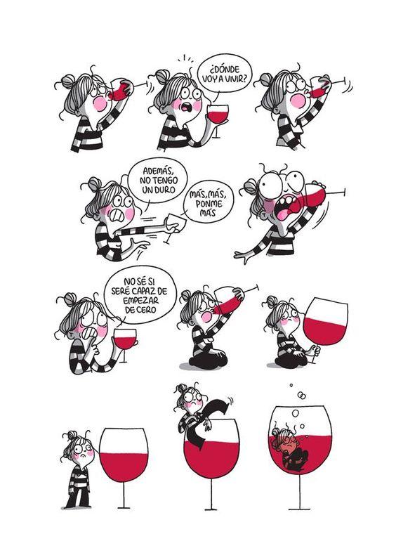 la volatil copa de vino