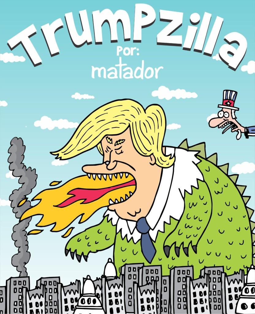 El Salón del Cómic de Barcelona dedica una exposición a los chistes gráficos sobre Donald Trump