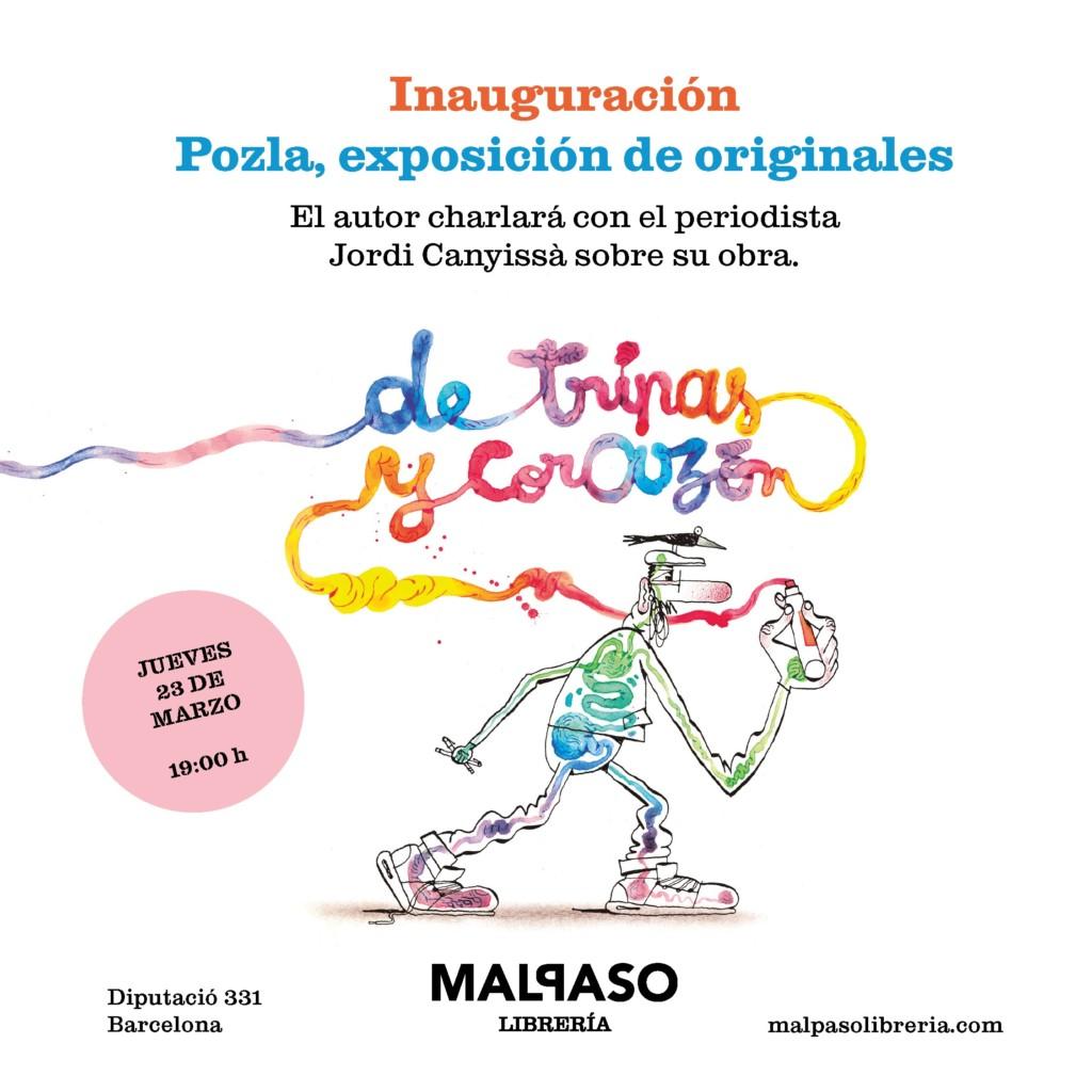 Exposición y sesión de firmas de Pozla en Barcelona