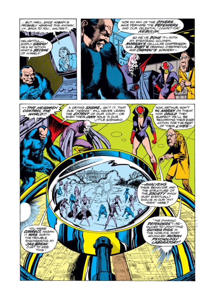 Marvel Gold. Los Defensores: Los Hombres Cabeza 02
