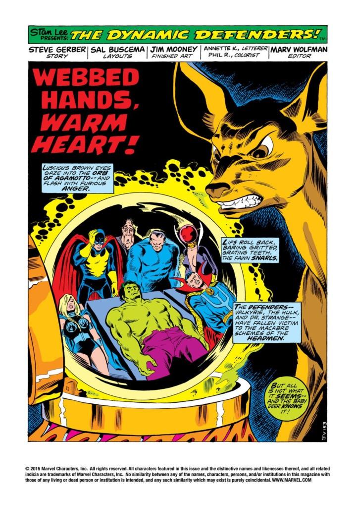 Marvel Gold. Los Defensores: Los Hombres Cabeza 01