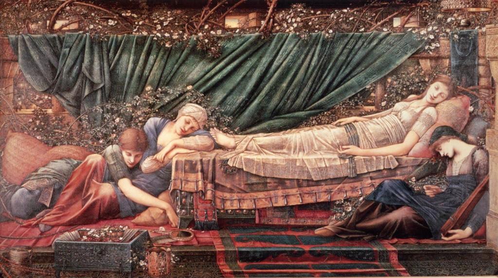 La bella durmiente pintura