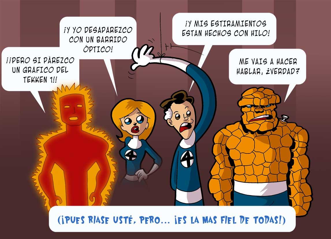 viñetas y acción the fantastic four corman