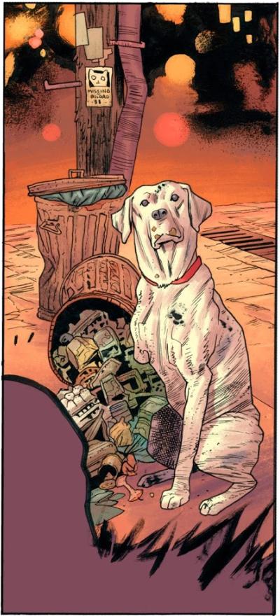 Rumble 1. El color de la oscuridad perro
