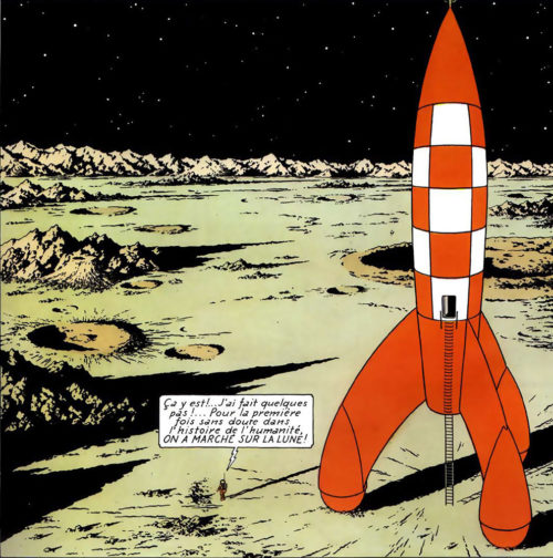 Tintin Cohete Reto Pensadores XVII Lamastelle