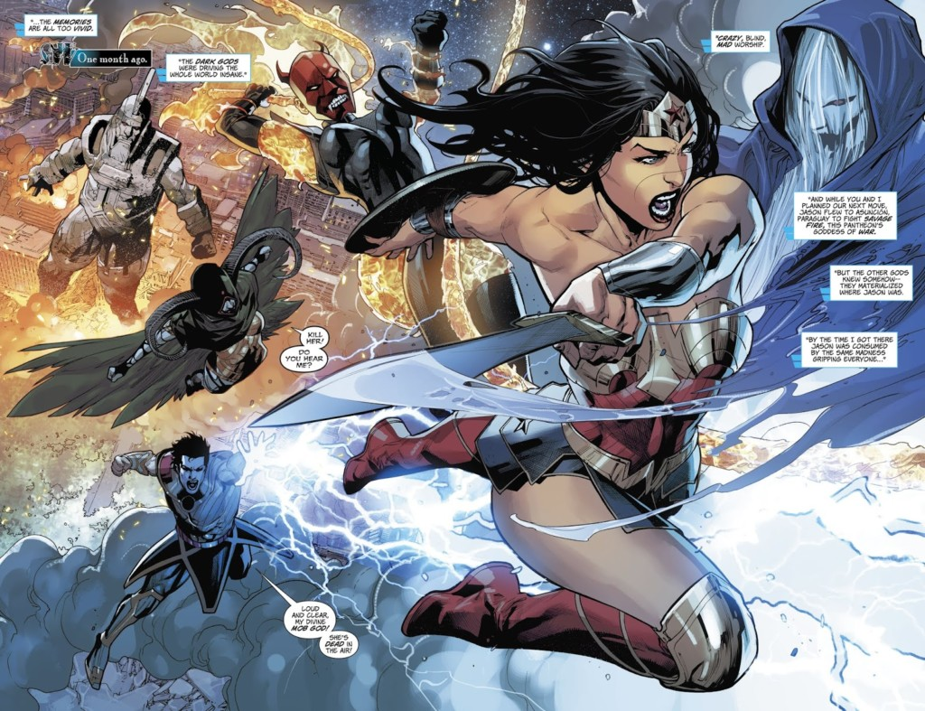 wonder woman 50 splash los dioses oscuros