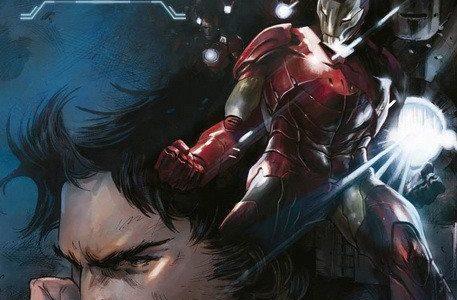 Iron Man 100/1 Un hombre hecho a sí mismo de Dan Slott y Valeio Schiti