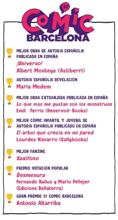 Ganadores Premios 37 Comic Barcelona