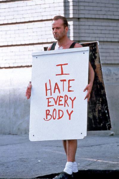odio a todo el mundo