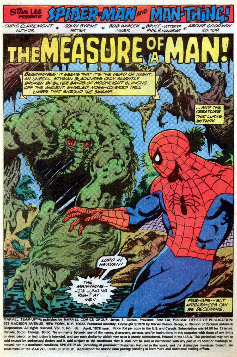 spiderman marvel team up claremont byrne pg2
