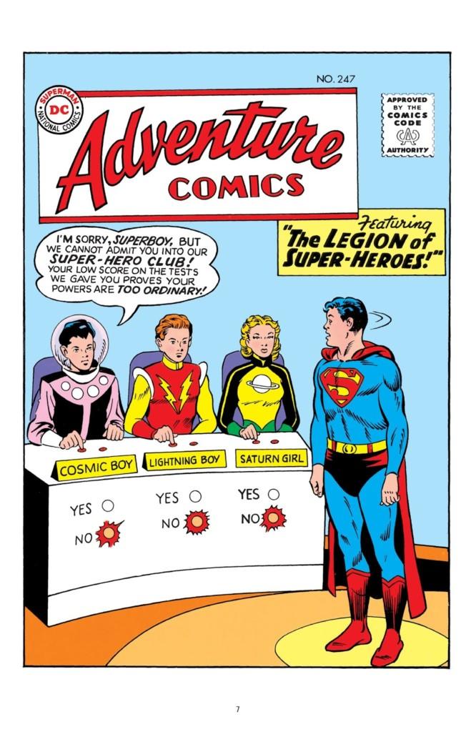 legion of superheroes silver age omnibus 1 pg1