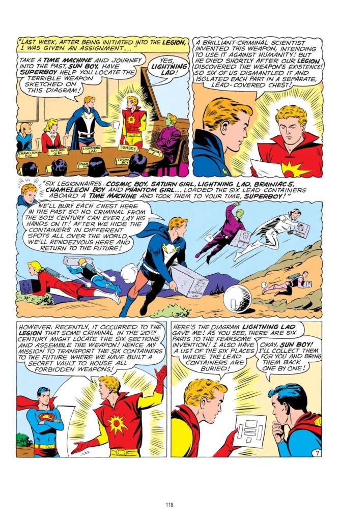 legion of superheroes silver age omnibus 1 pg2