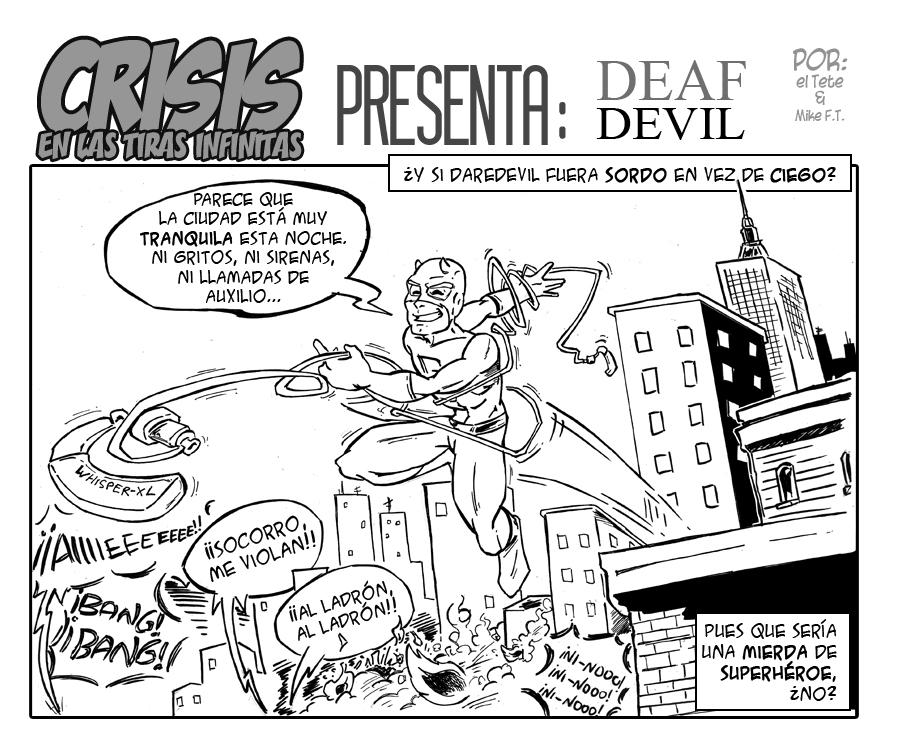 Crisis en las Tiras Infinitas: ¿Y si Daredevil fuera sordo en lugar de ciego?