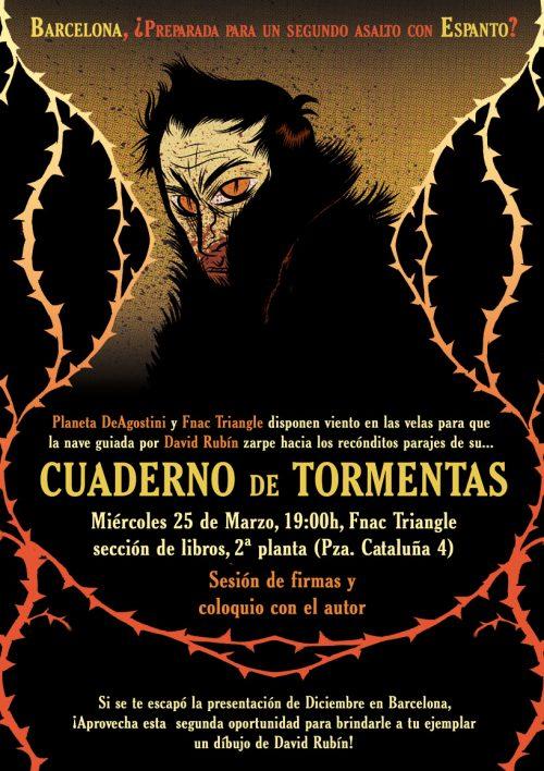 Presentación de Cuaderno de Tormentas en FNAC Triangle Barcelona