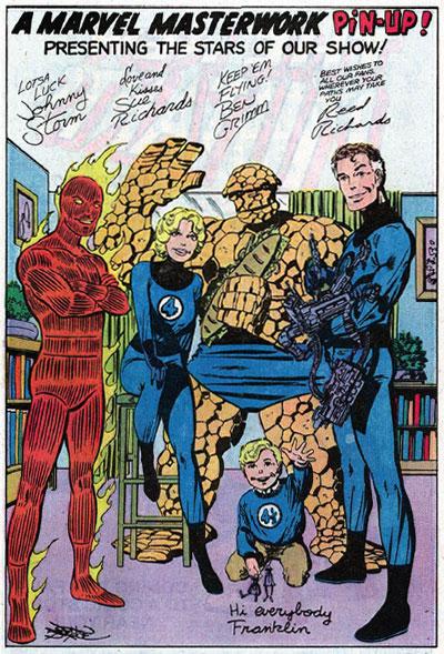 Byrne recuperando otra tradición de los primeros años de Marvel...