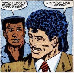 Trajes de yuppie, pelos de yuppie...¿1988?