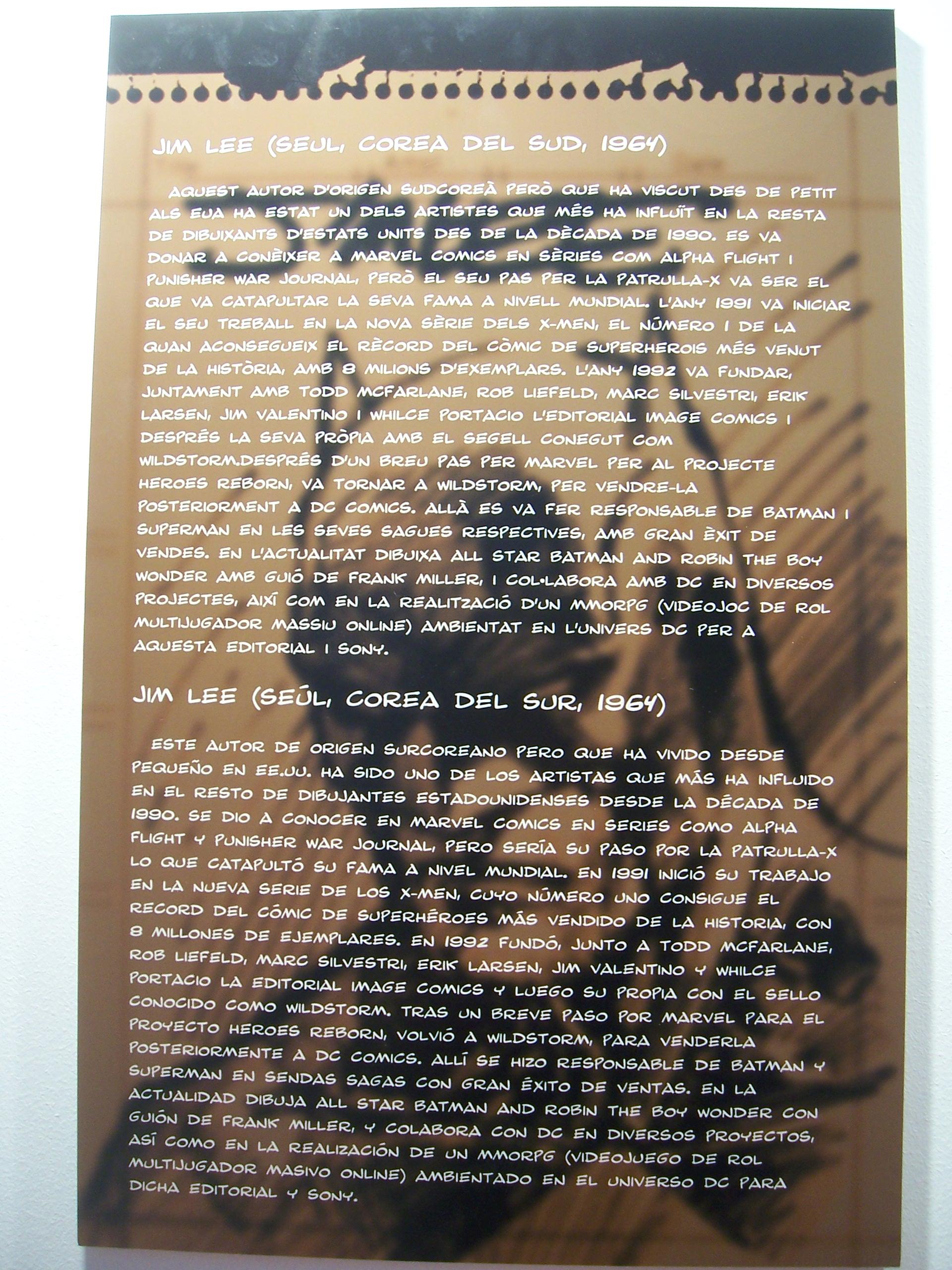 Las exposiciones del Salón 2009: Jim Lee