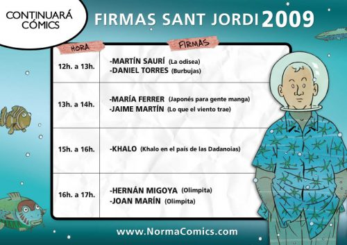 Firmas Sant Jordi 2009 - Continuarà Comics