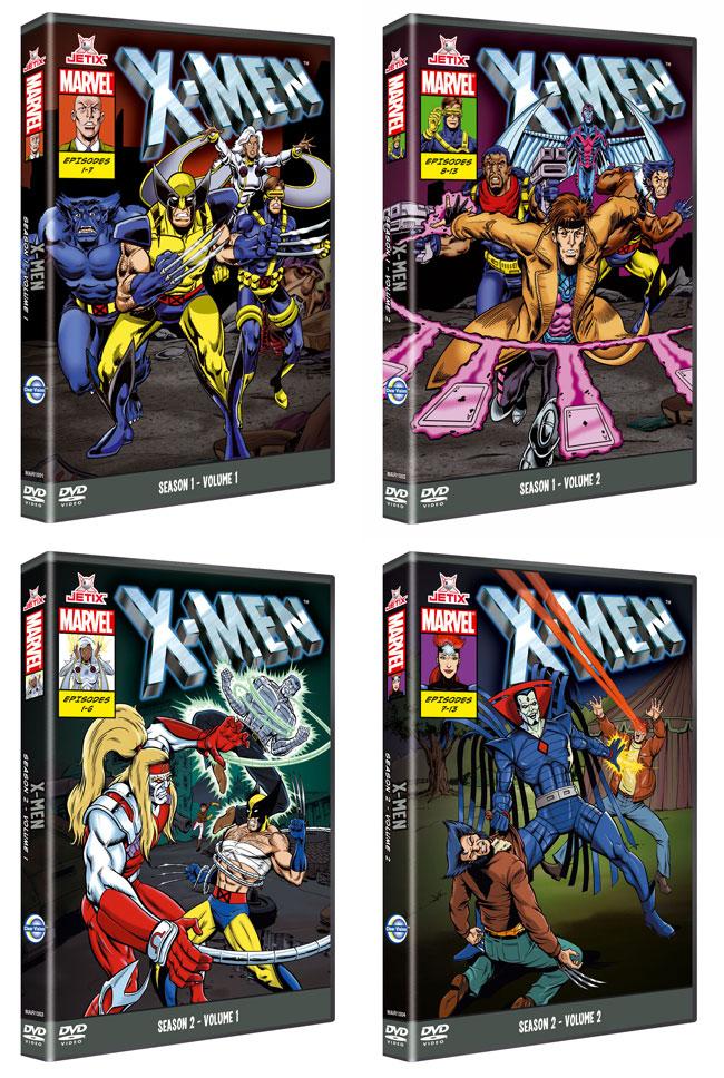 La serie de animación X-Men, recuperada en DVD
